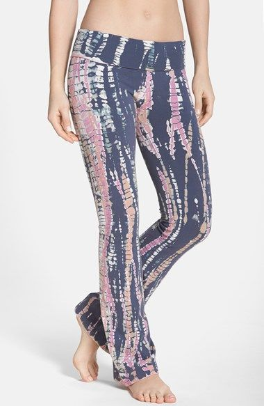 Free shipping and returns on Hard Tail Bootcut Knit Pants at Nordstrom.com. Splashy tie-dye pants are styled with a wide, fold-over waistband that can be easily adjusted for a high or low rise.