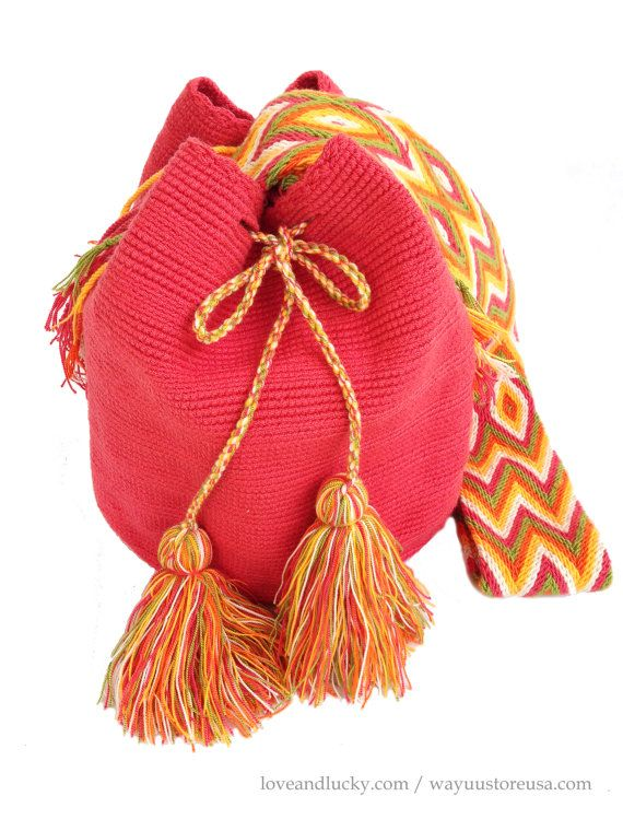 Authentic Wayuu Bag  Wayuu Mochilas Bags handmade by loveandlucky, $89.00