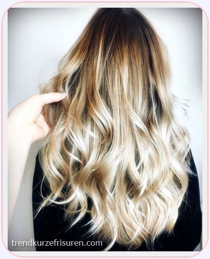 Blonde lange haare 2018