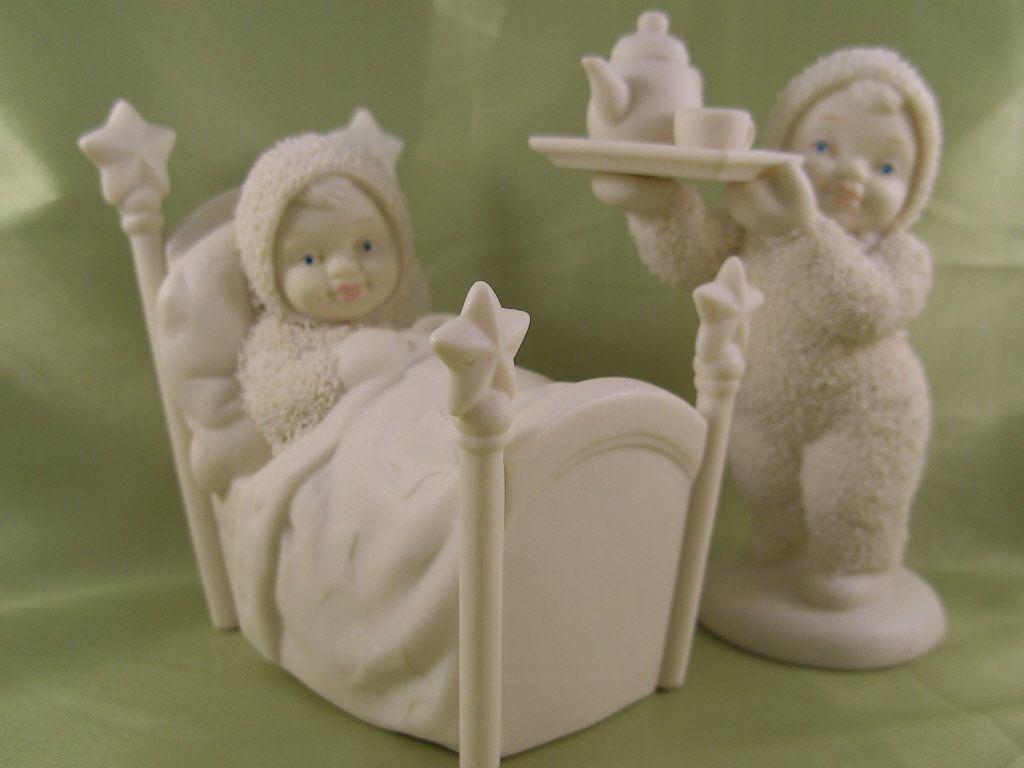 breakfast in bed snowbabies