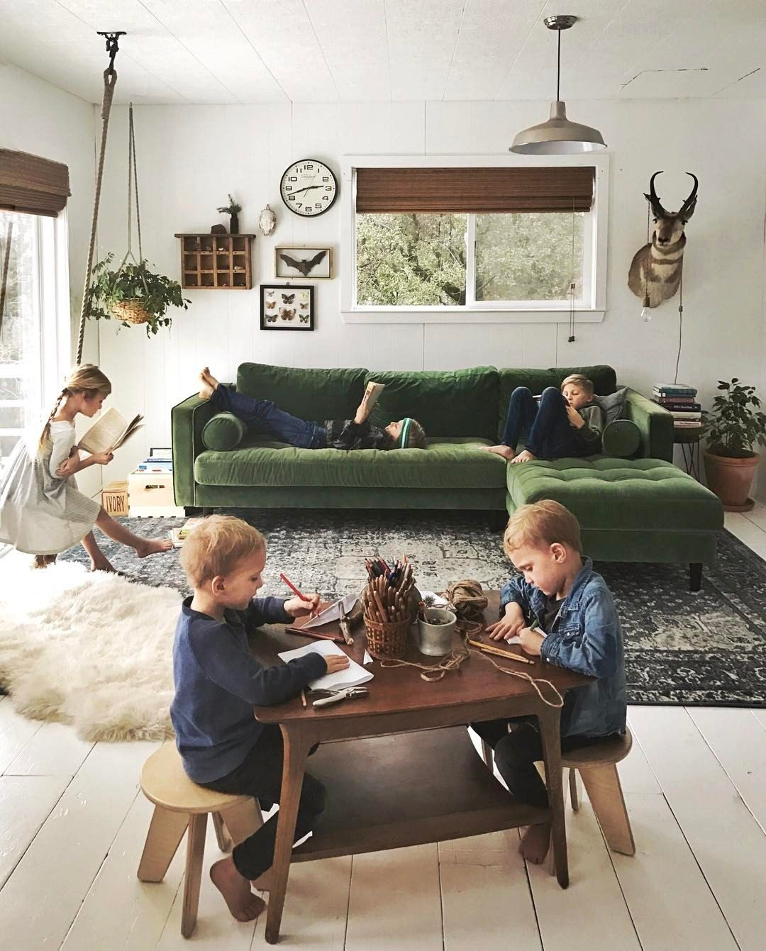 Minimalist Homeschool Room: Sometimes I Sit Back In Shock That They Actually Do What I
