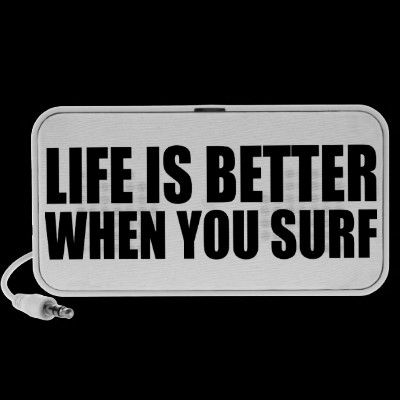 Oxygentees Life Is Better When You Surf Portable Speaker $42.30