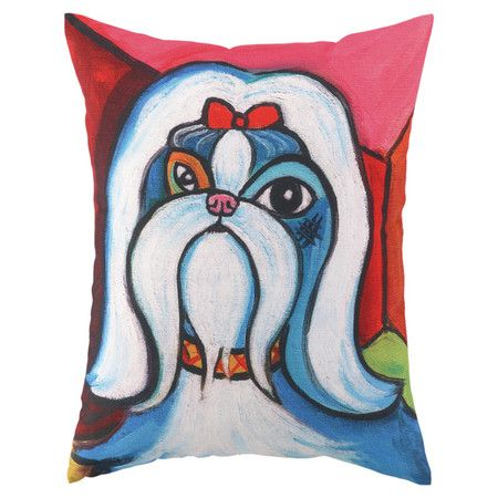 I Pinned This Pawcasso Shih Tzu Pillow From The Reigning Cats Dogs