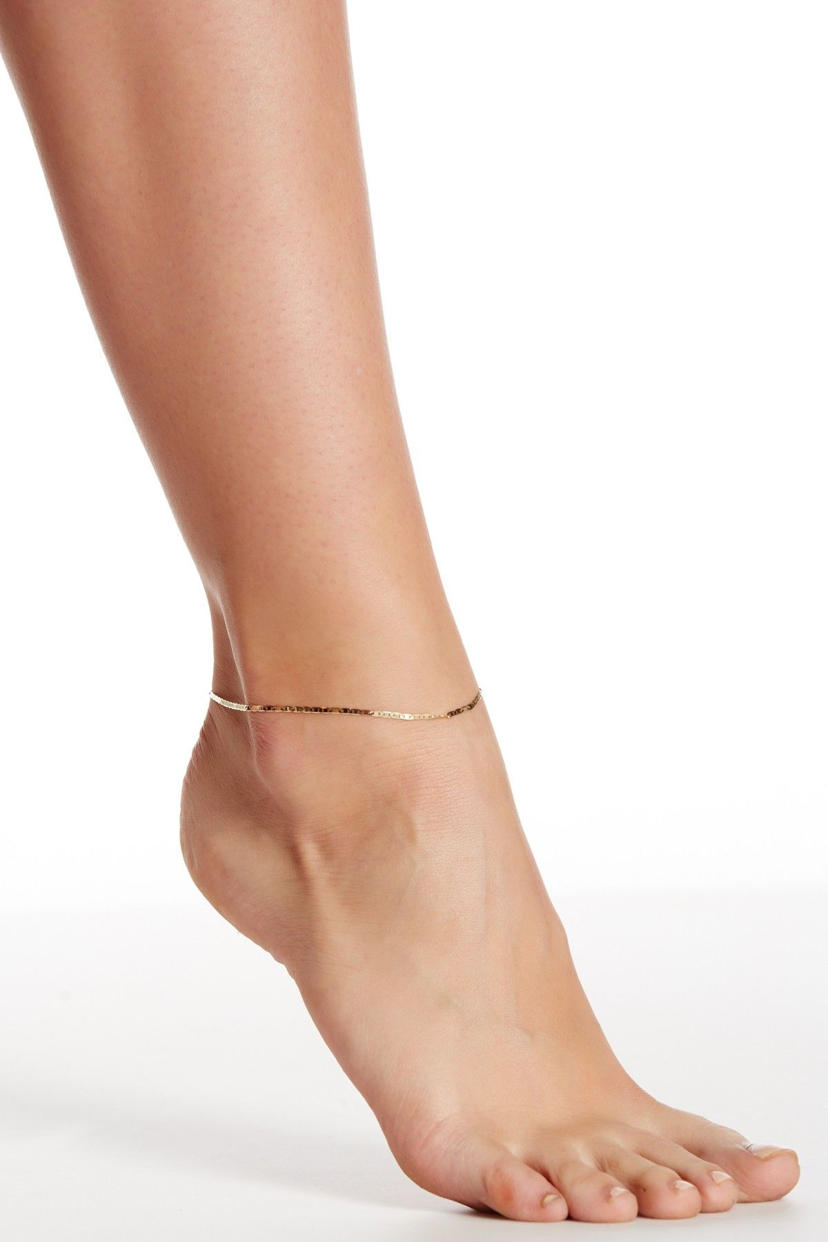 Karat Rush 10k Yellow Gold Mariner Link Anklet Nordstrom Rack Anklet Gold Anklet Karat