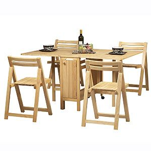 The Ultimate Small Space Dining Solution? This Table U0026 Chair Set Folds Down  From