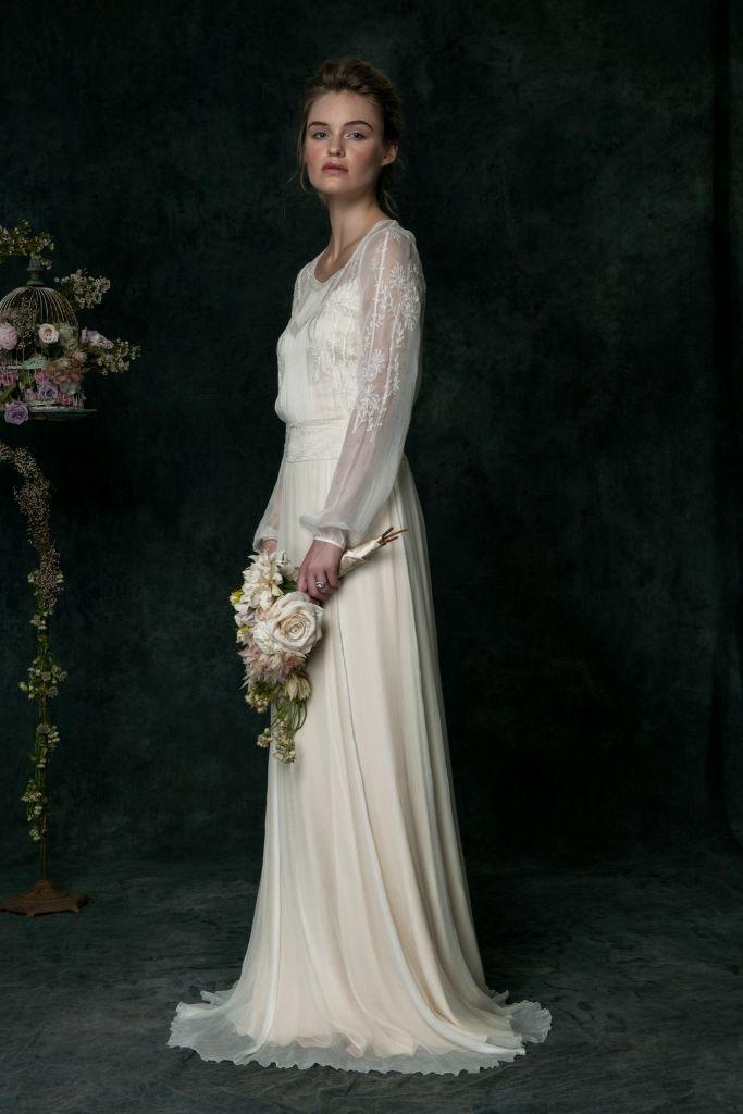 Saja Wedding Dresses For 2016 Silk Chiffon Wedding Dress Wedding Dress Long Sleeve Bridal Gowns