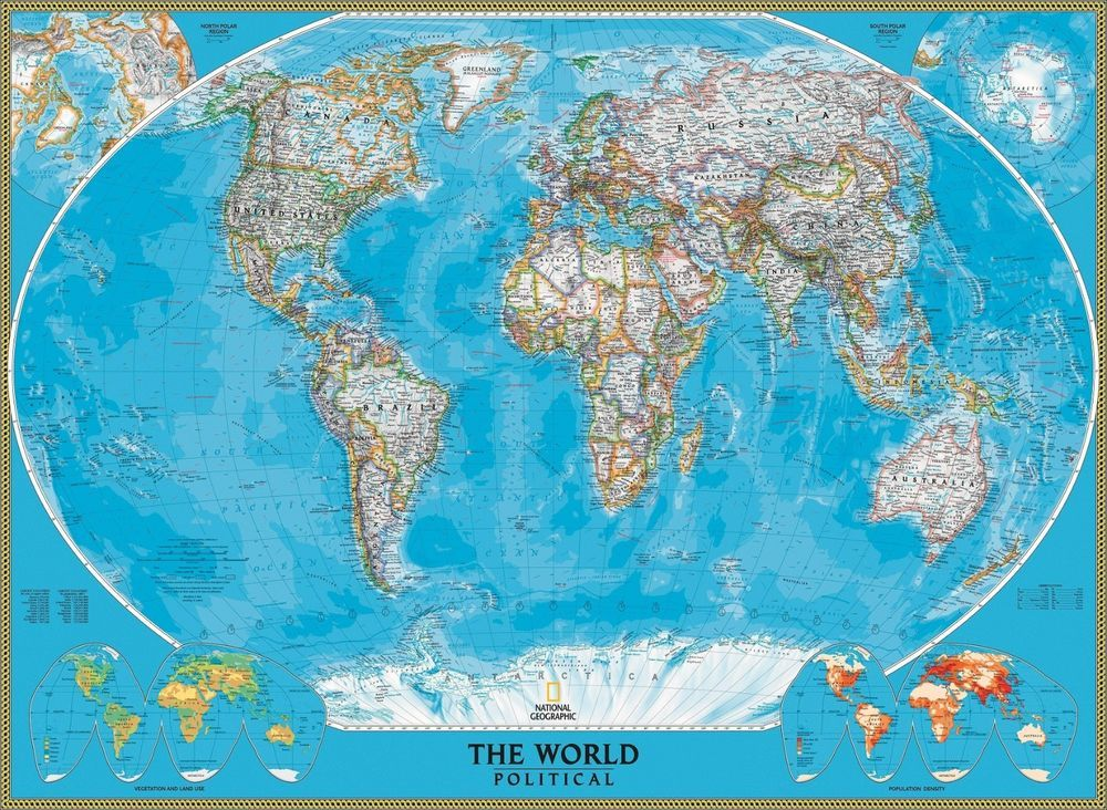 World political map national geographic canvas print large size wall world political map national geographic canvas print large size wall maps wall maps and walls gumiabroncs Choice Image