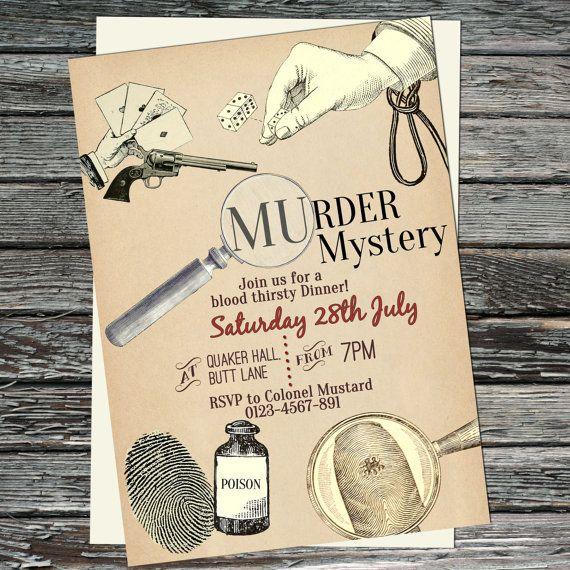 Murder Mystery Dinner Sheet Free: Pin Auf Basteln