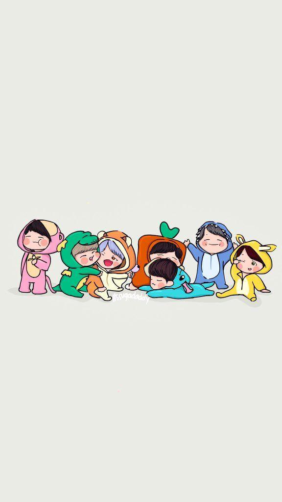 Btsfanart Bts Chibi Chibi Wallpaper Bts Drawings Bts cute anime wallpaper