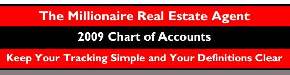 The Millionaire Real Estate Agent Chart Of Accounts 10 Budget Model Categories Profit Chart Of Accounts Profit And Loss Statement Financial Accounting