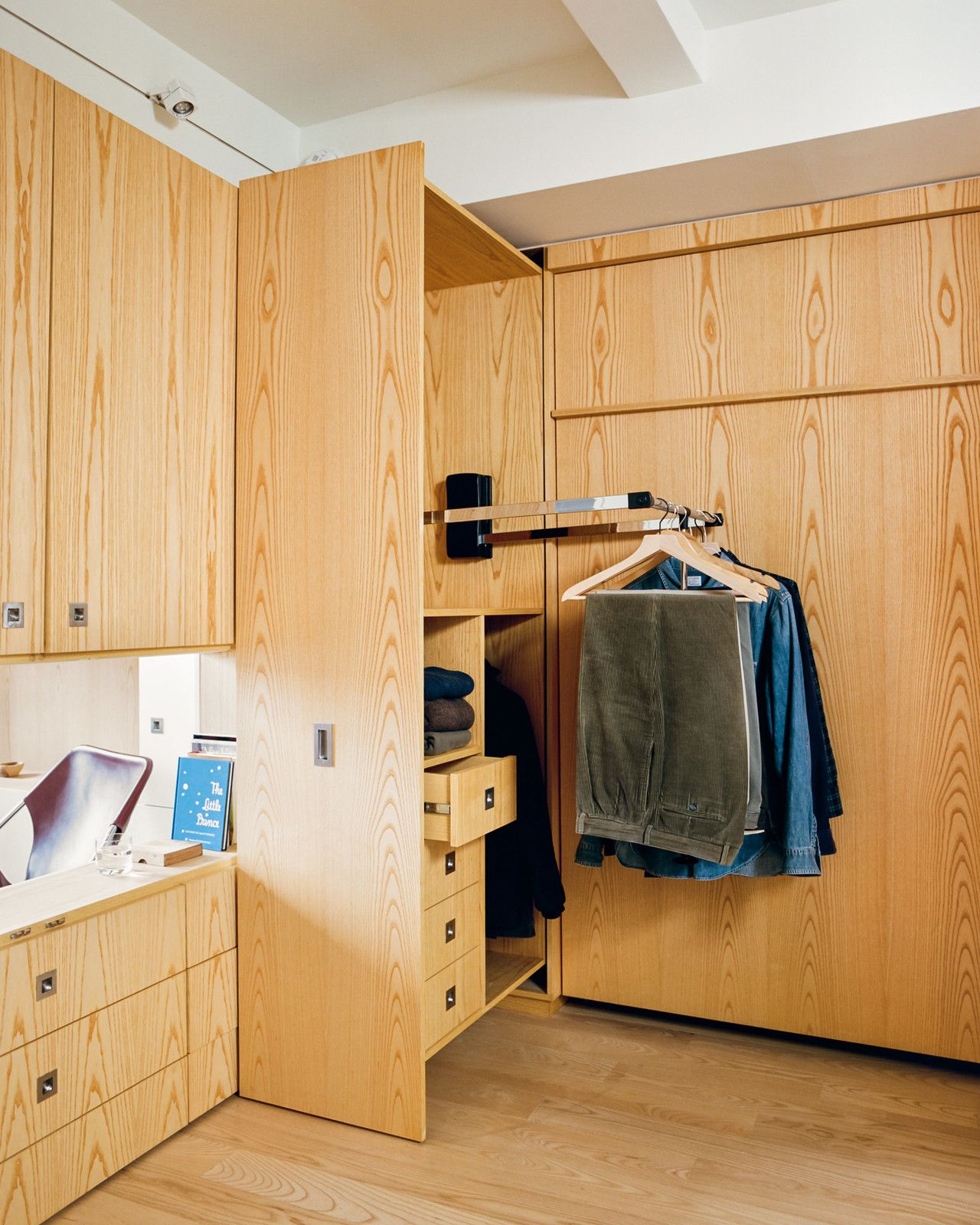 Stowing The Queen Size Room Makers Murphy Bed By SICO Frees Up Access To  Custom Built In Cabinets And Pull Down Closet Rods By Hafele That  Illuminate When ...