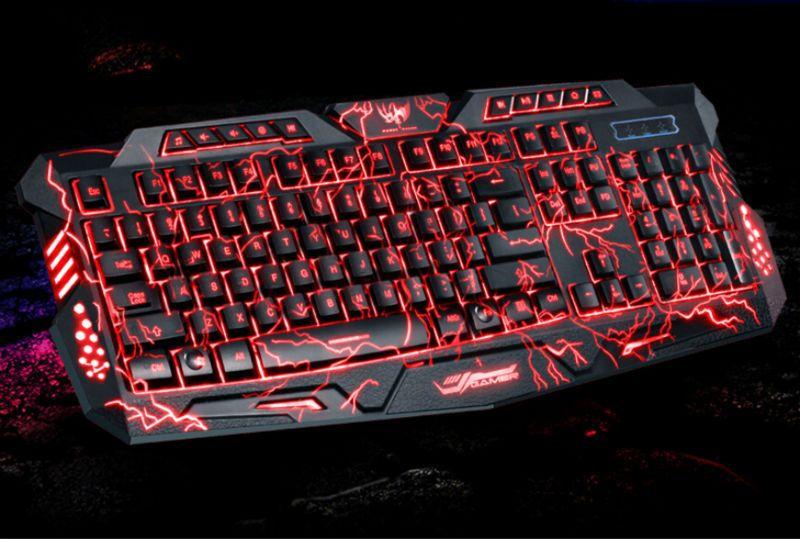 Cool Multimedia  LED Illuminated Backlight USB Wired Gaming Keyboard PC US STOCK