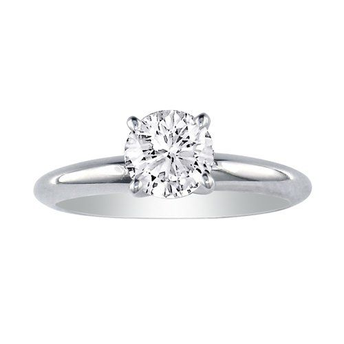 12ct diamond solitaire engagement ring in 10k white gold s - 10k Wedding Ring