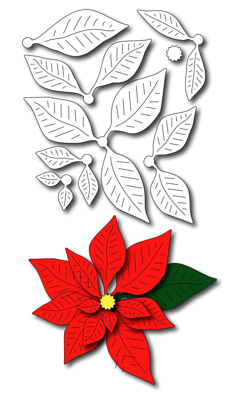 Frantic Stamper Precision Die Poinsettia Paper flower