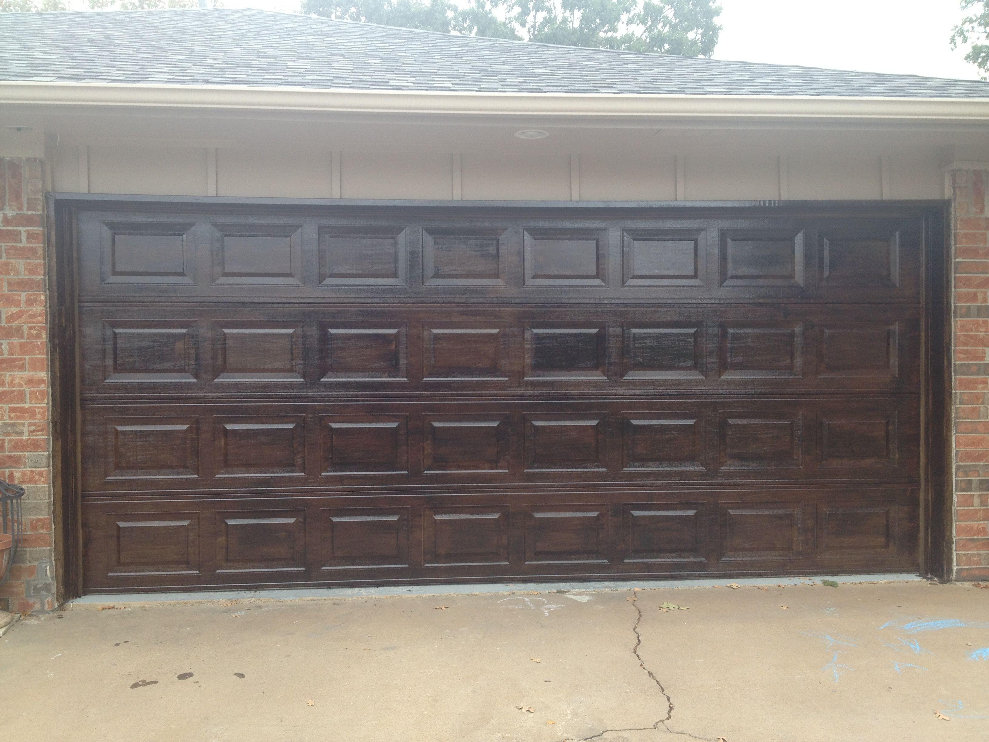2448 #836E48  Look Exterior Forward Metal Garage Door Made To Look Like Wood Brought save image Wood Looking Garage Doors 38273264