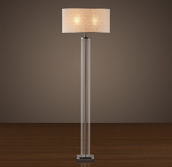 RHu0027s French Column Glass Floor Lamp:Based On A French Original, The Clear  Glass