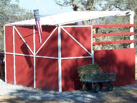 Lean to shed/shelter