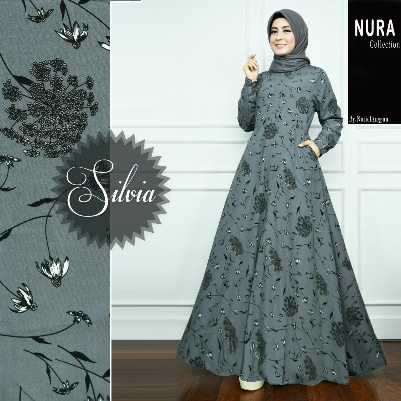 Model Gamis Motif Garis Kombinasi Polos  Baju muslim, Wanita, Muslim