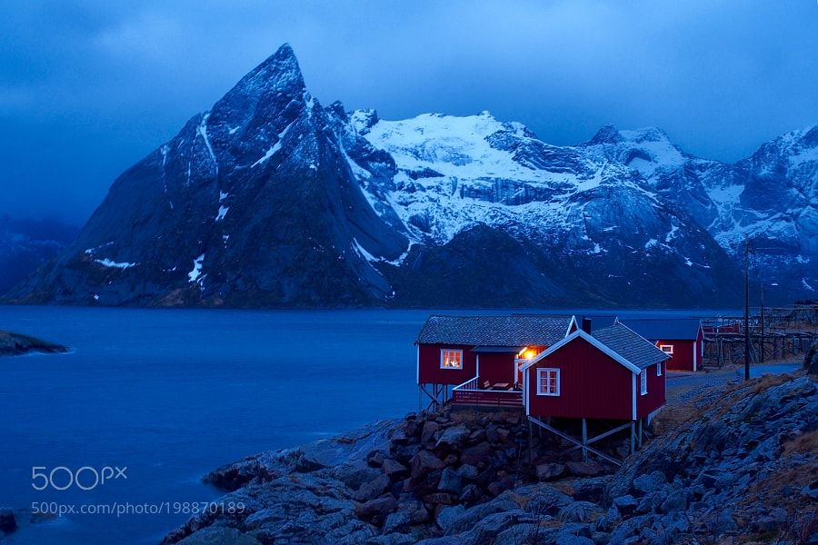 Popular on 500px : Hamnoy at 7:00 AM by moulin_photo