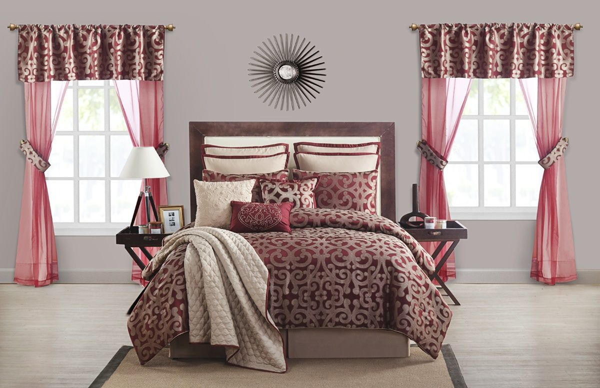 Redo Your Entire Bedroom With This Elegant 22 Piece Comforter Set. This  Beautiful Set Has
