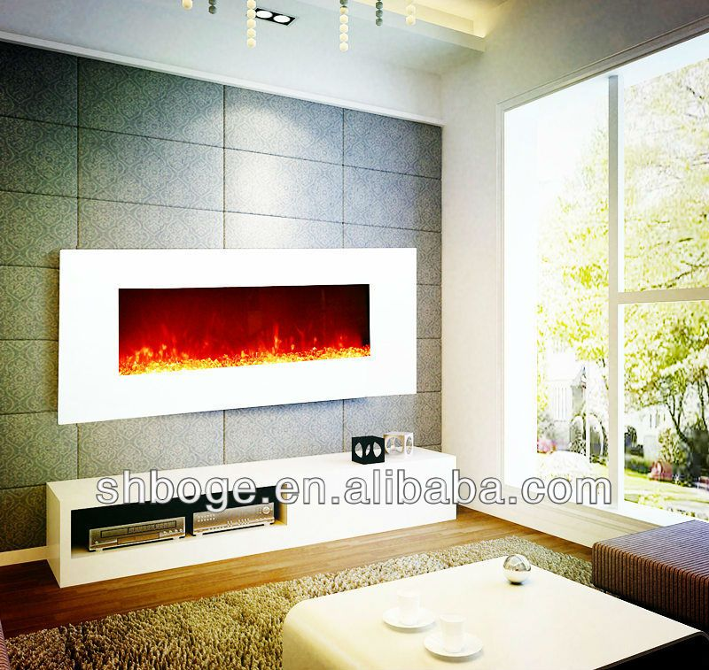 110v 120v 220v 240v White 50 Wall Mounted Fake Electric Fire