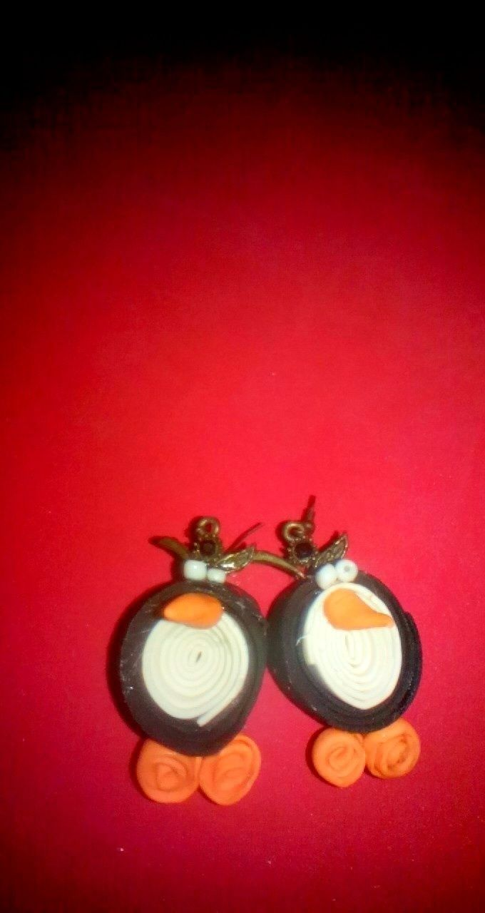 Penguin earrings quilling quilling jewelry and penguins