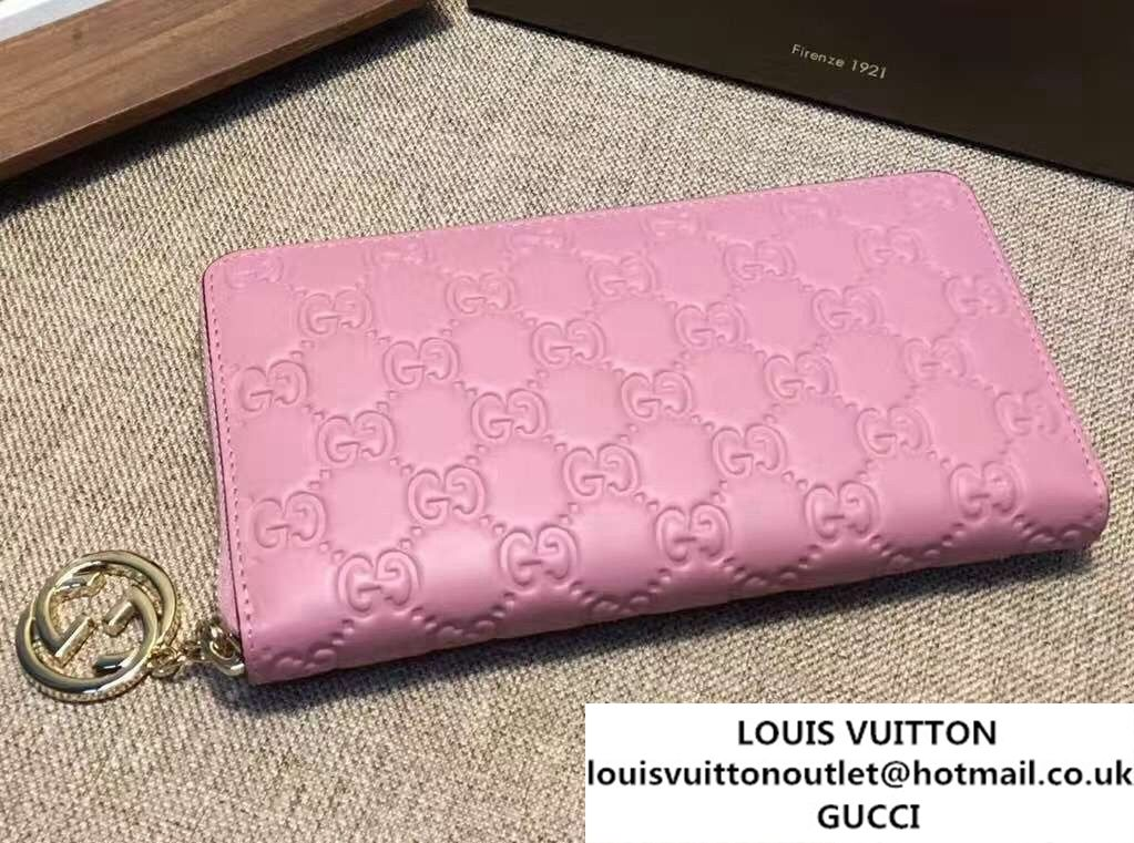 4d945283edabb7 Gucci Icon Signature Wallet 409342 Pink 2016 | Gucci | Pink 2016 ...