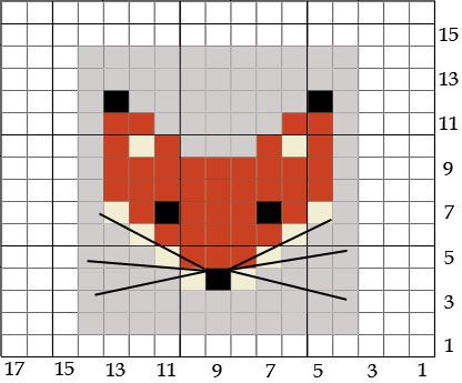 fox_chart | Foxes, Chart and Cross stitch