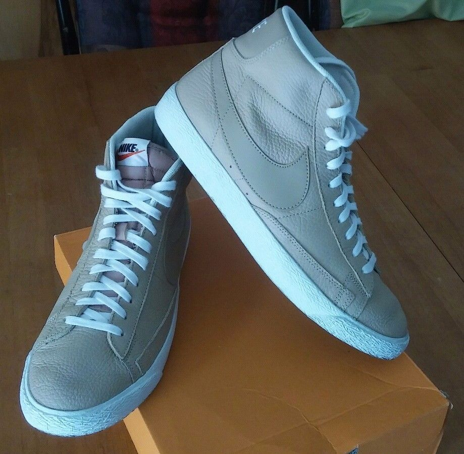 42de15a3dec release date nike blazer mid premium linen sneakers pre owned u.s men sizes  10.5 fashion 93668