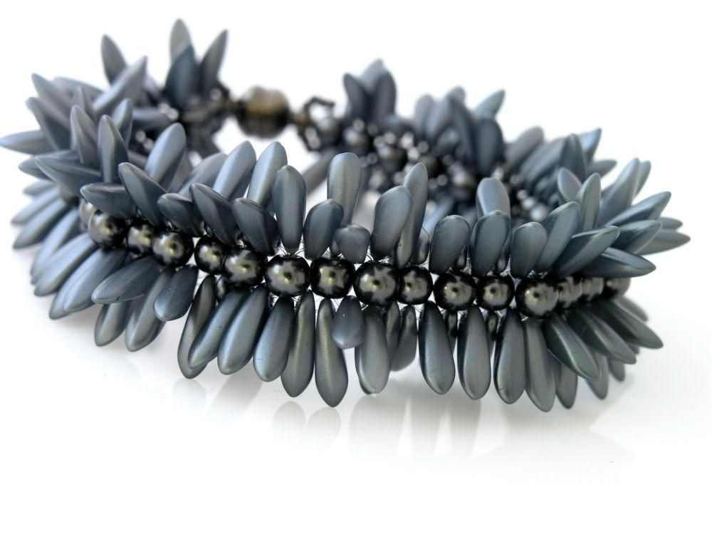 Náramok ježko šedý