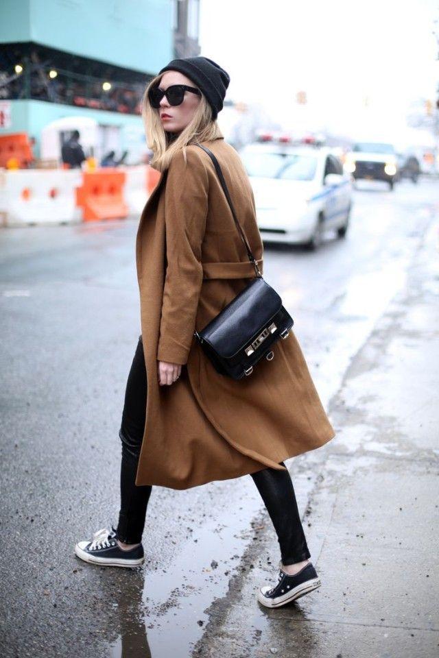 Camel coat Sneakers