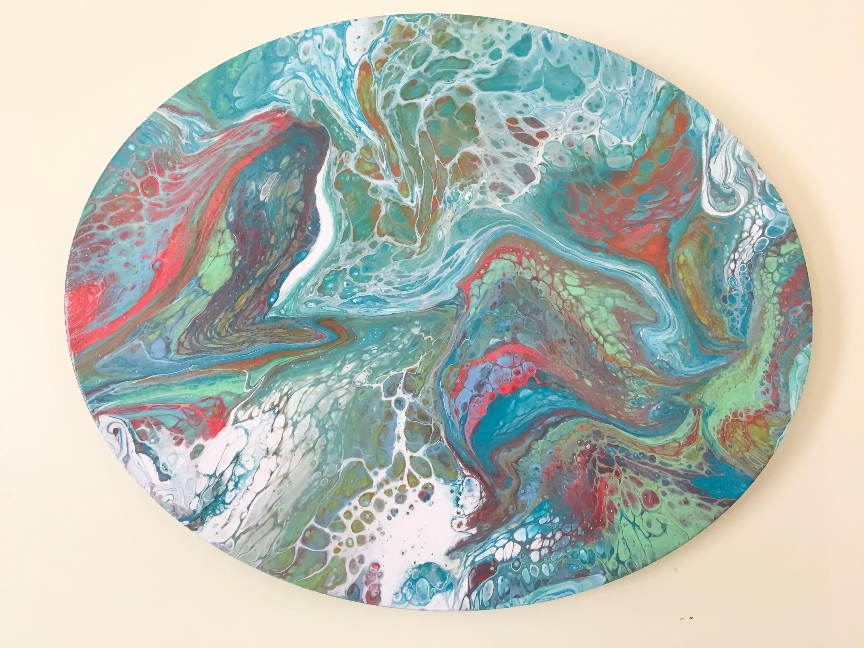 Acrylic Pour Paintingacrylic Pour Artpour Paintingacrylic Pour Canvas Painted