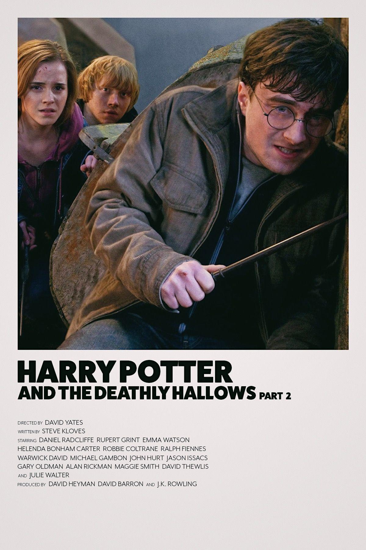 Deathly Hallows Part 2 Minimalist Movie Poster Harry Potter Pictures Harry Potter Poster Movie Posters Minimalist