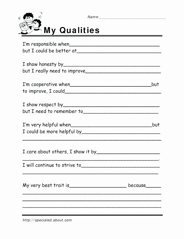 Printable Life Skills Worksheets High School Life Skills