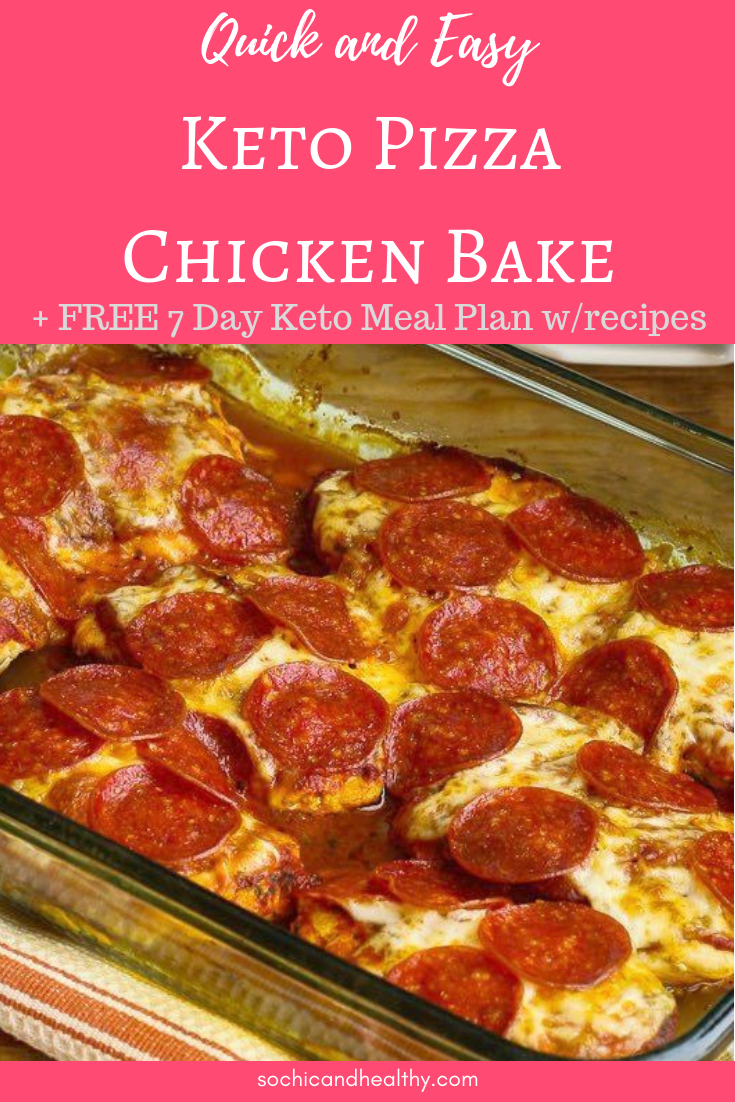 keto pizza chicken bake images
