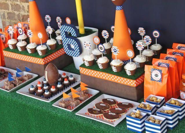 Football party Klays 13th bday party Pinterest Football