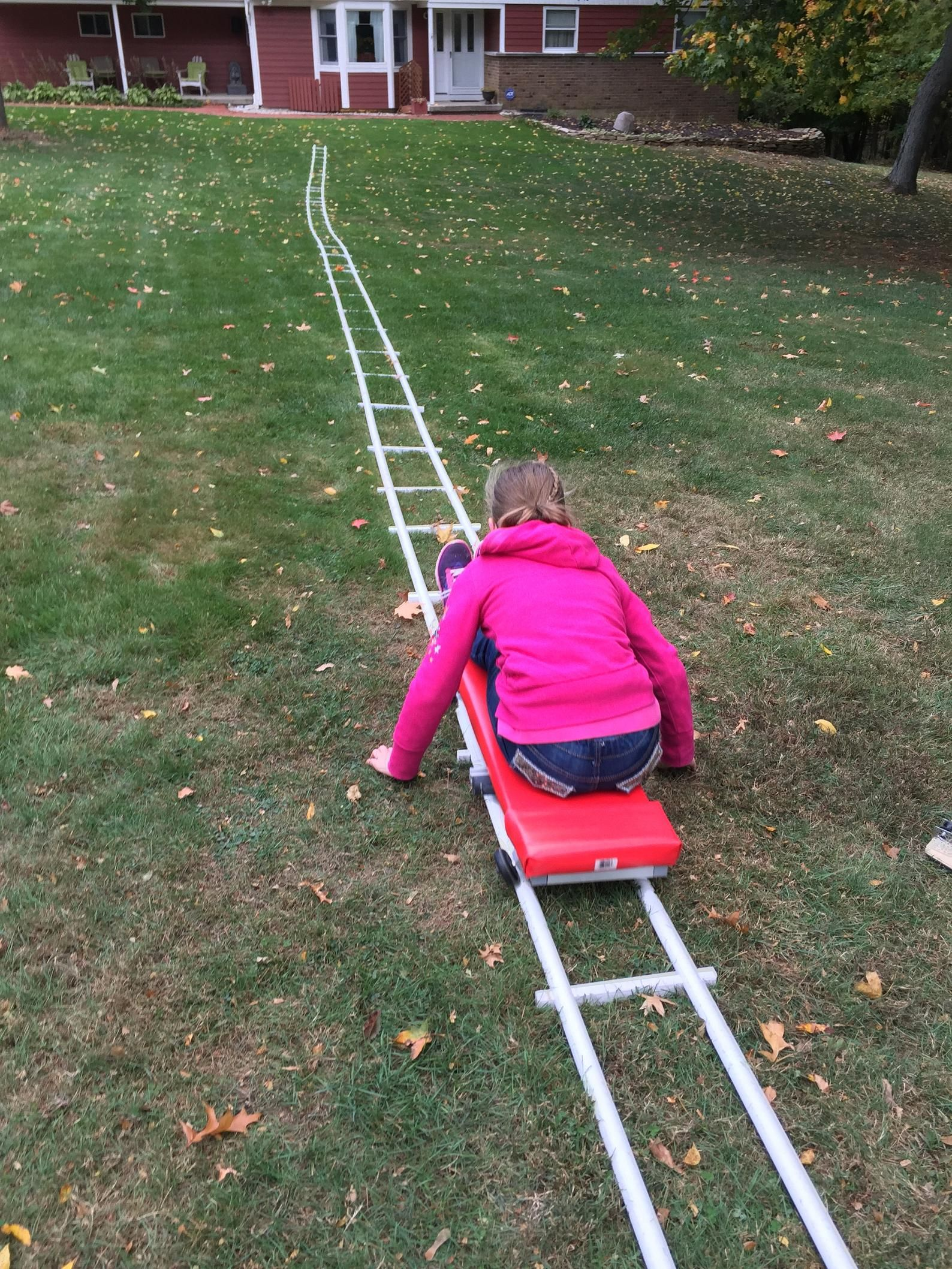 Portable Roller Coaster Build From Plans In 2021 Backyard For Kids Roller Coaster Kids Play Area Diy backyard roller coaster