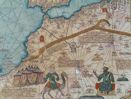 The catalan atlas 1375 by abraham cresques detail showing the catalan atlas 1375 by abraham cresques detail showing northern africa with a depiction of the king of mali and lord of guinea mansa musa gumiabroncs Image collections