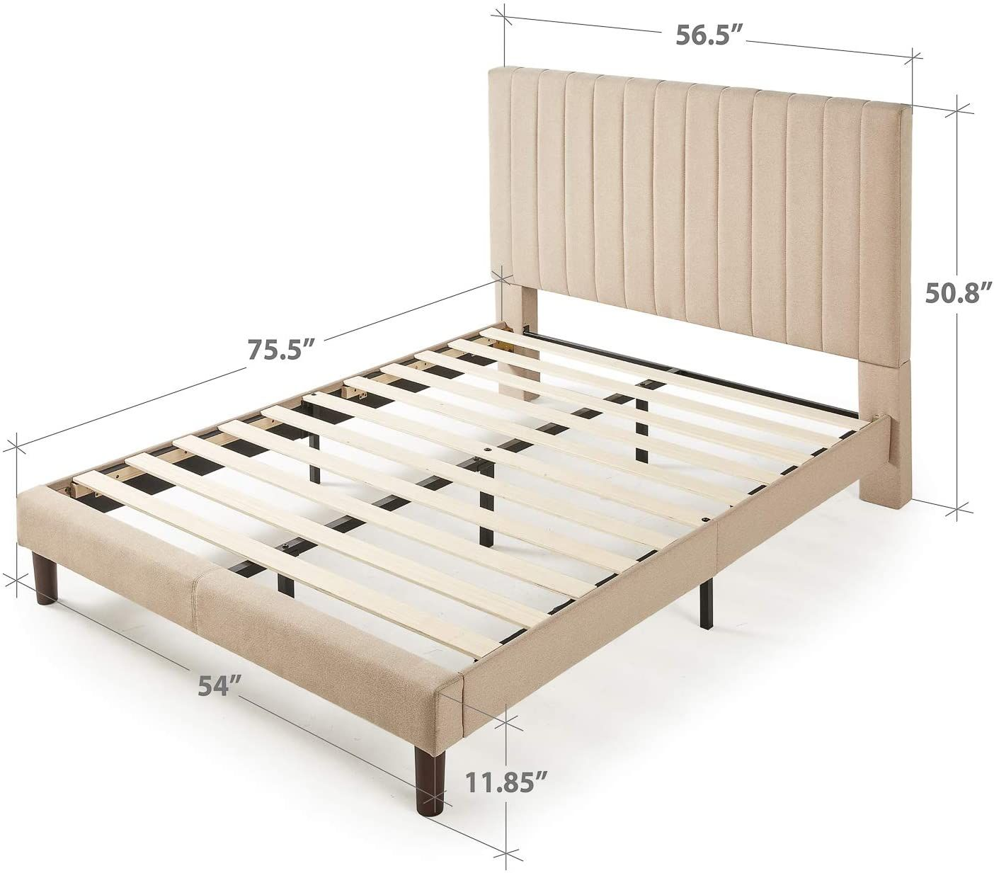 Amazon Com Zinus Debi Upholstered Platform Bed Mattress
