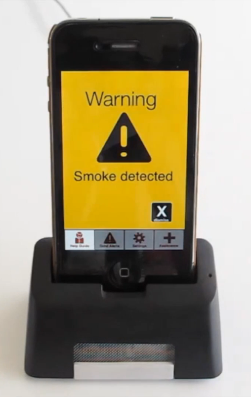 This iPhone dock could be the smoke detector of the future. It will alert…