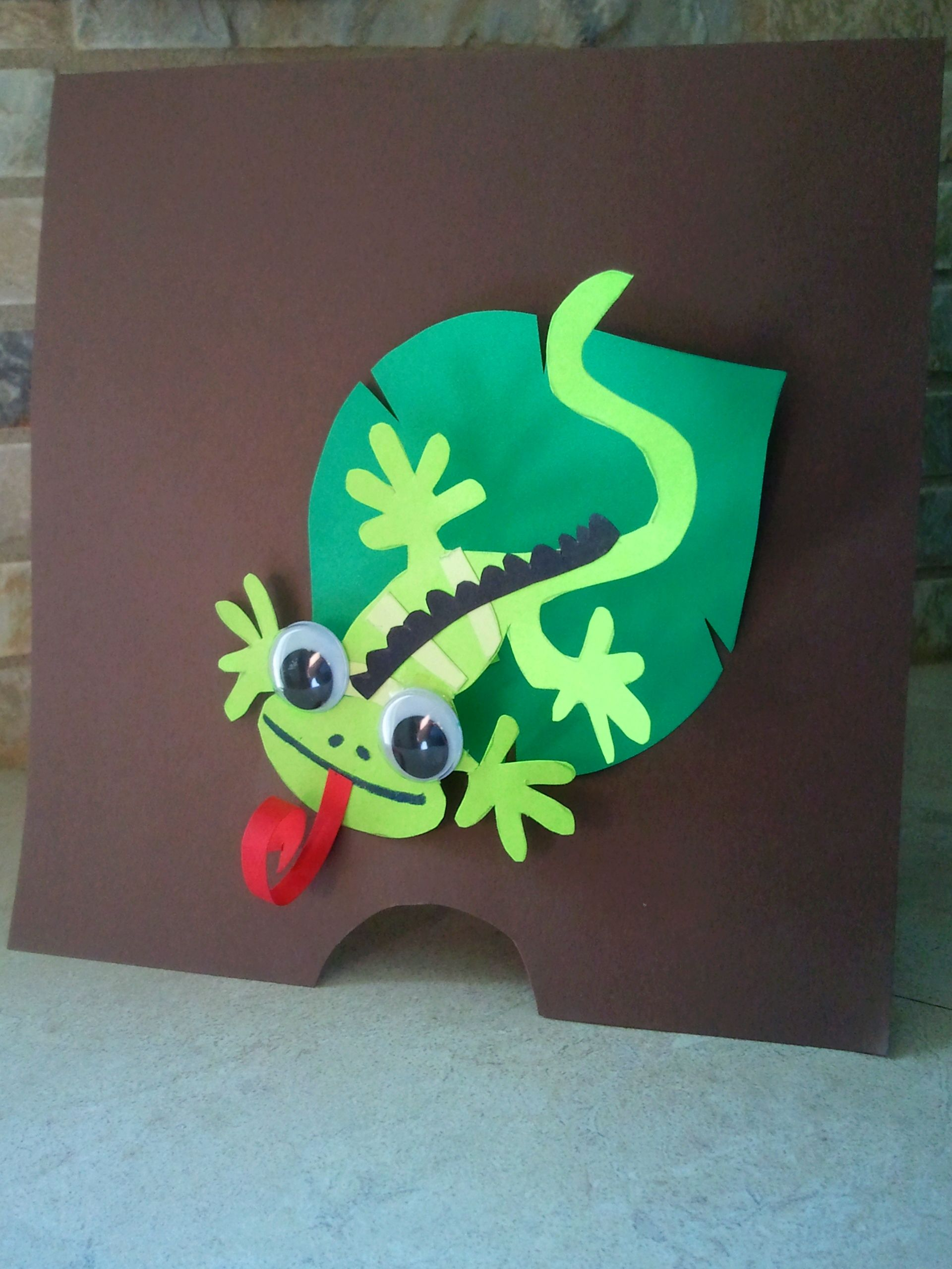 iguana handmade birthday party invitation | my crafts | Pinterest ...