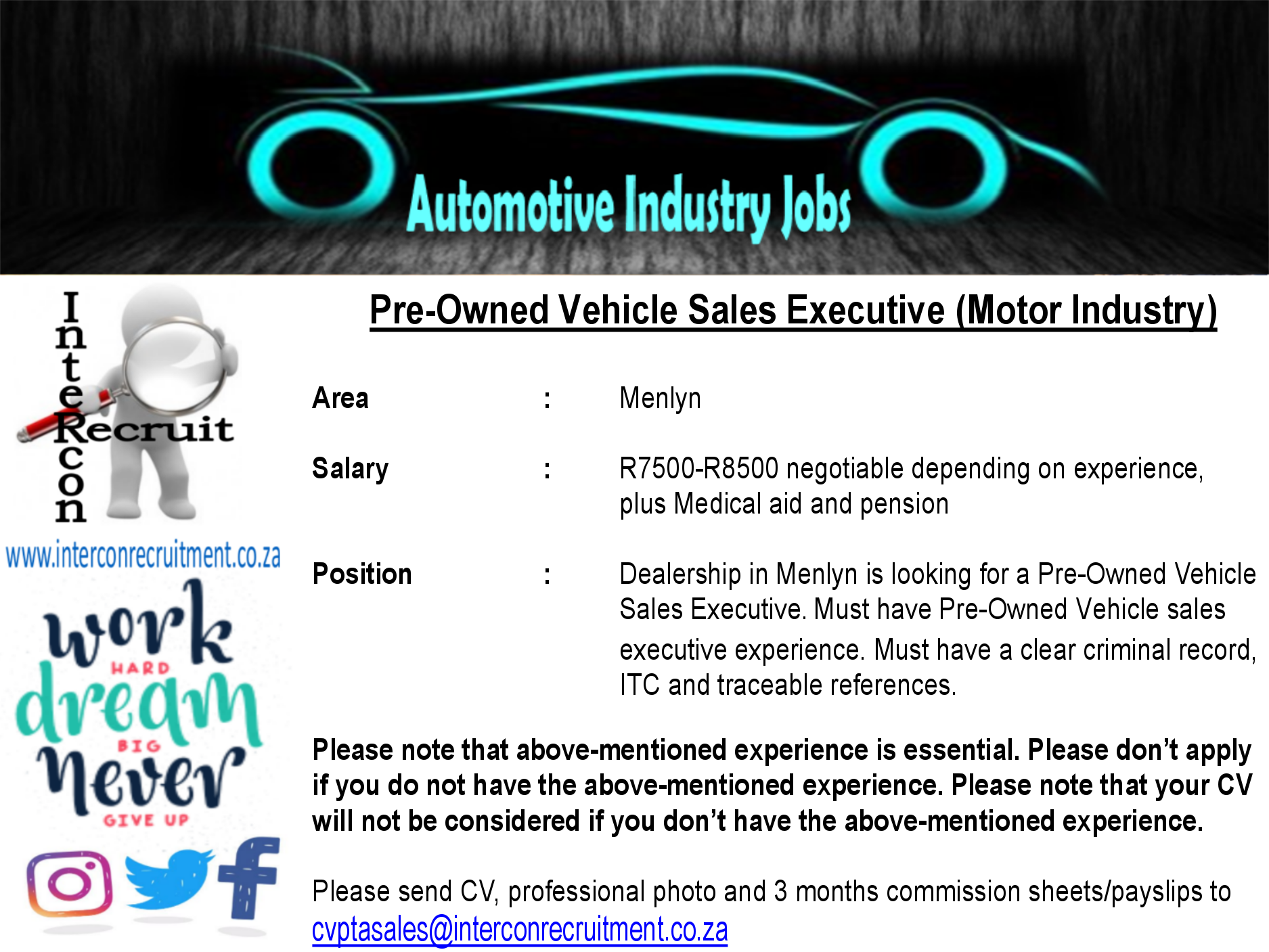 pre-owned vehicle sales executive