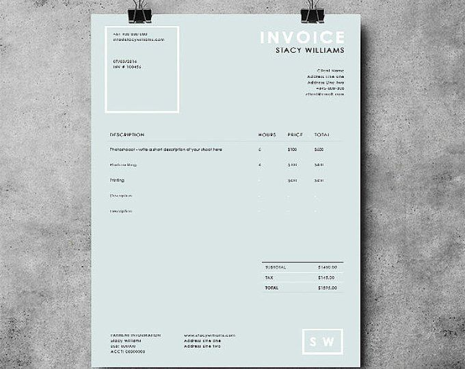 Photographer Invoice Template Invoice Design Receipt Template Ms Word Photoshop In 2021 Photography Invoice Template Photography Invoice Invoice Design