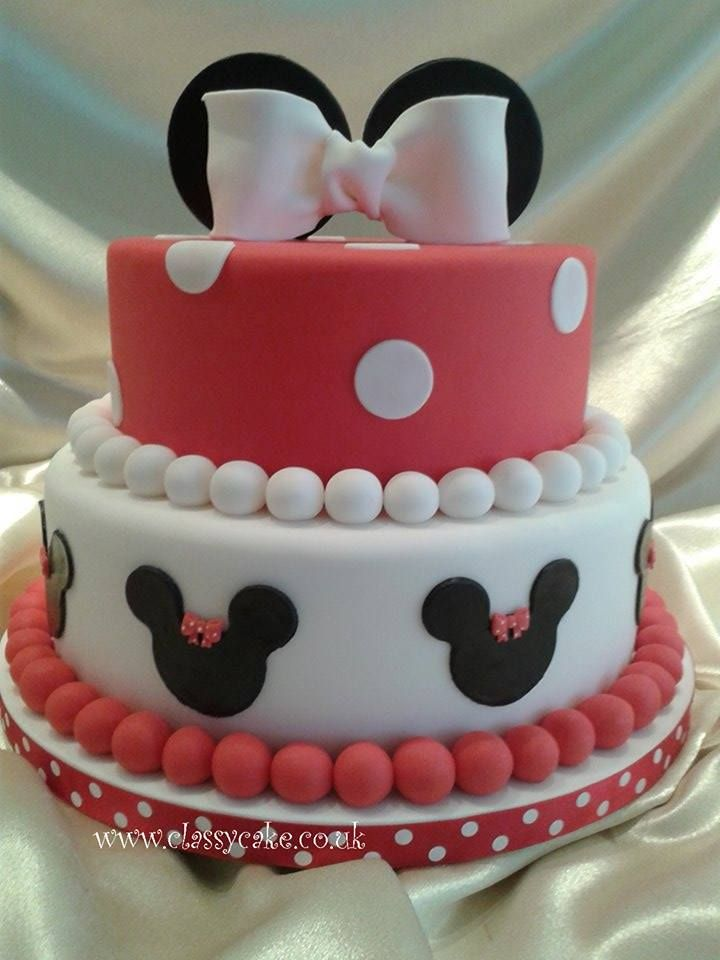 Babies Minnie Mouse Birthday Cake