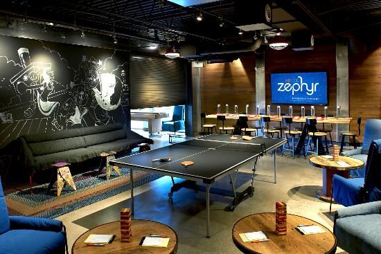 Hotel Zephyr Game Room Yes This Is In A Hotel And You Can Book