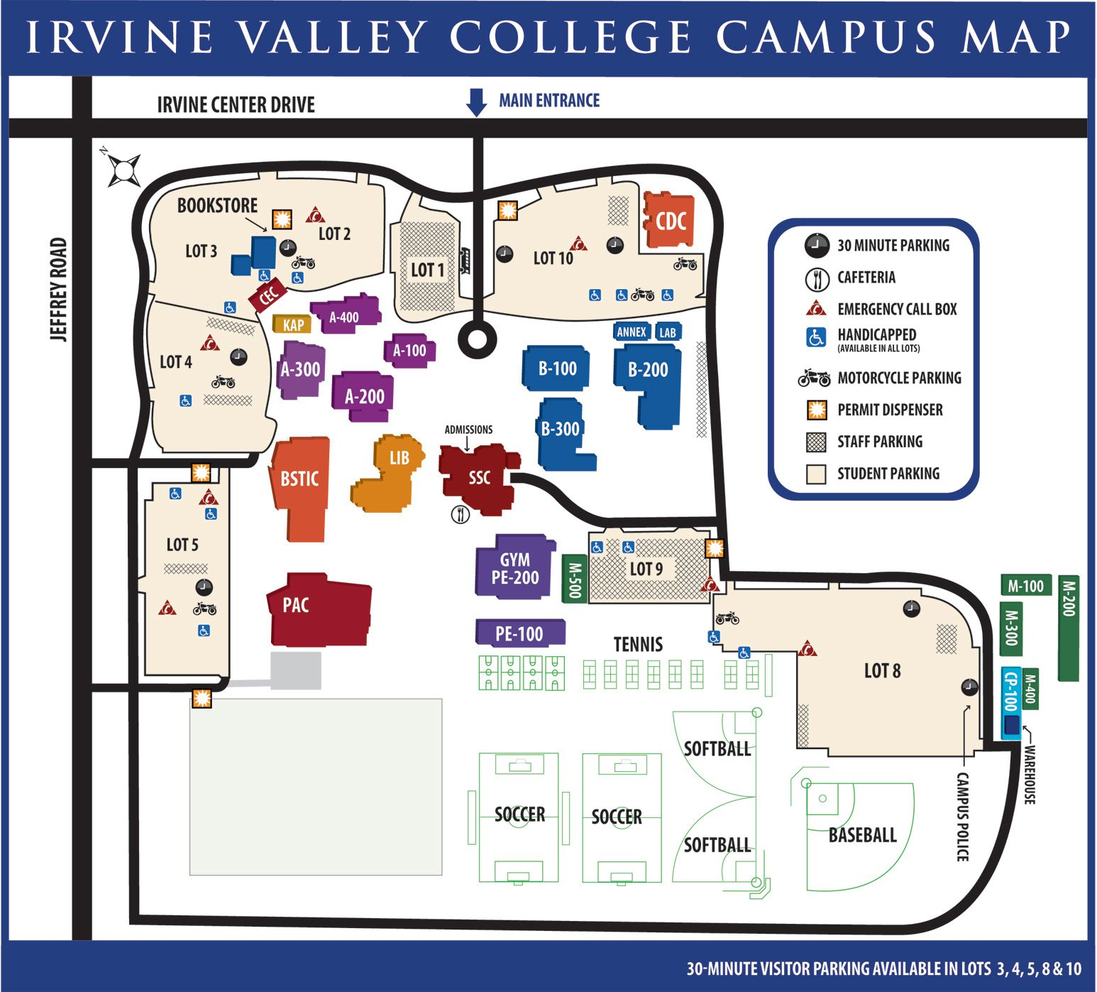 Irvine Valley College Campus Map | Things I want to try