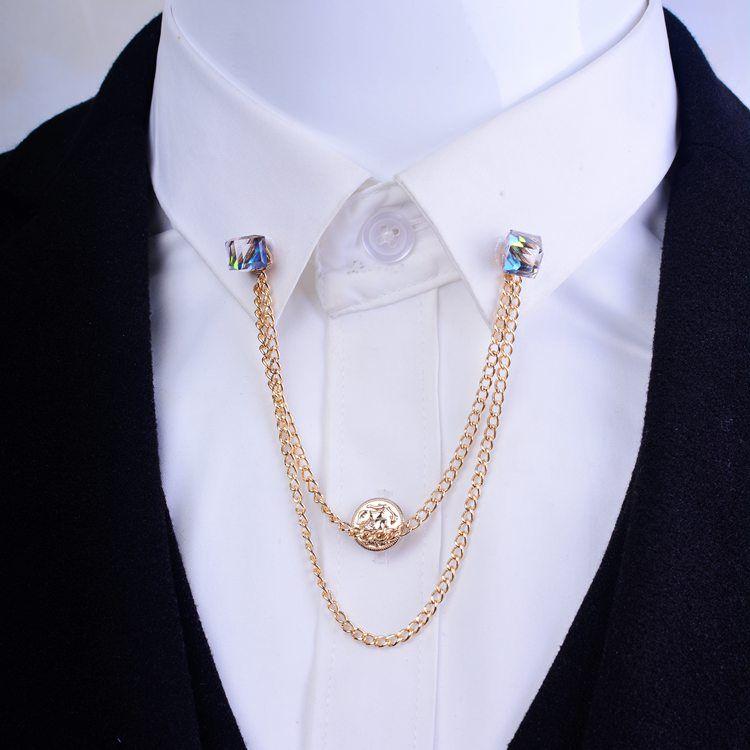2016 Hot Best Suit Blouse Shirts Collar Clip Neck Tip Design For Men