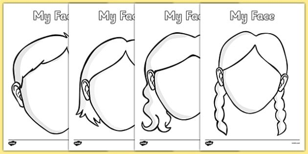 Blank Faces Templates - face, features, eye, template, mouth, lips