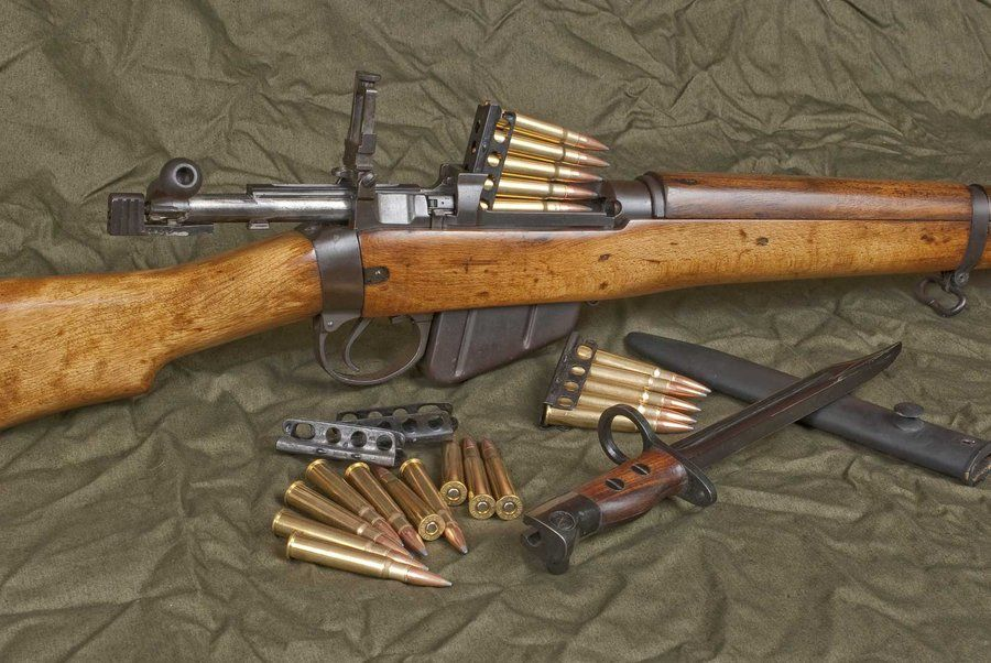 Lee Enfield  303 rifle I didn't know the cartridges were available