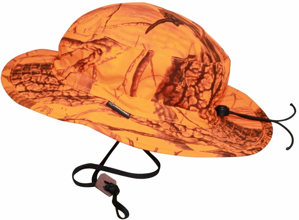 Realtree Blaze Boonie Cap Gore Tex Orange Camouflage